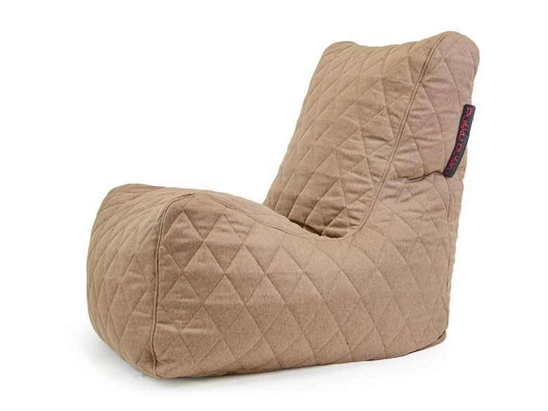 Fabric bean bag SEAT QUILTED NORDIC by Pusku pusku