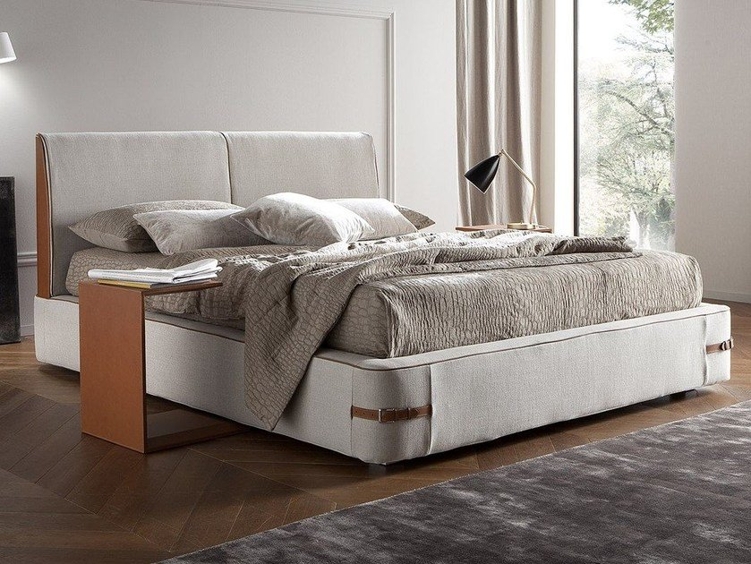 Fabric bed with removable cover SEBASTIAN by Chaarme