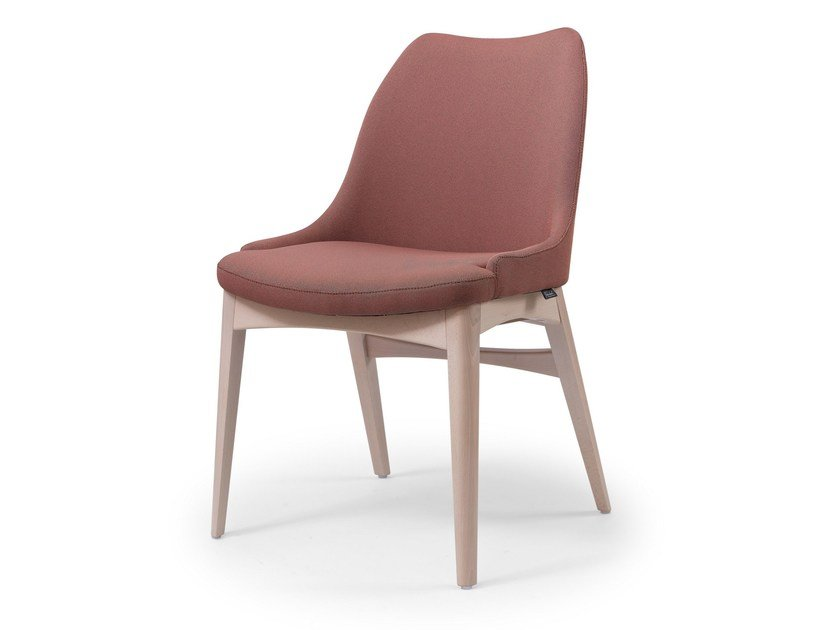 Cadeira estofada de tecido SEBASTIAN by Fenabel