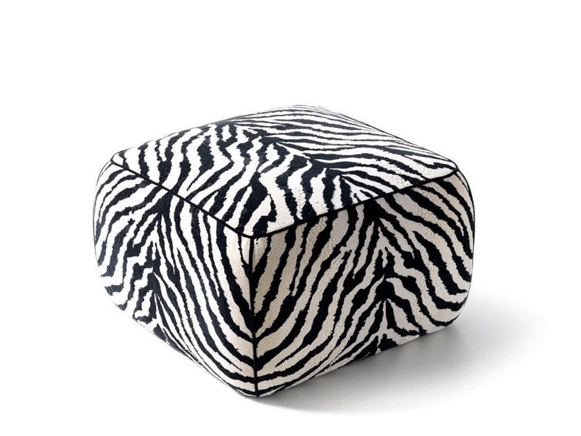 Square pouf SEBRA - 720717 | Pouf by Grilli