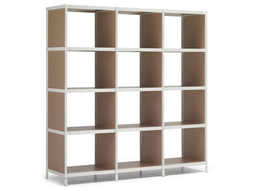 Open freestanding shelving unit SEC | Wooden shelving unit by Alias
