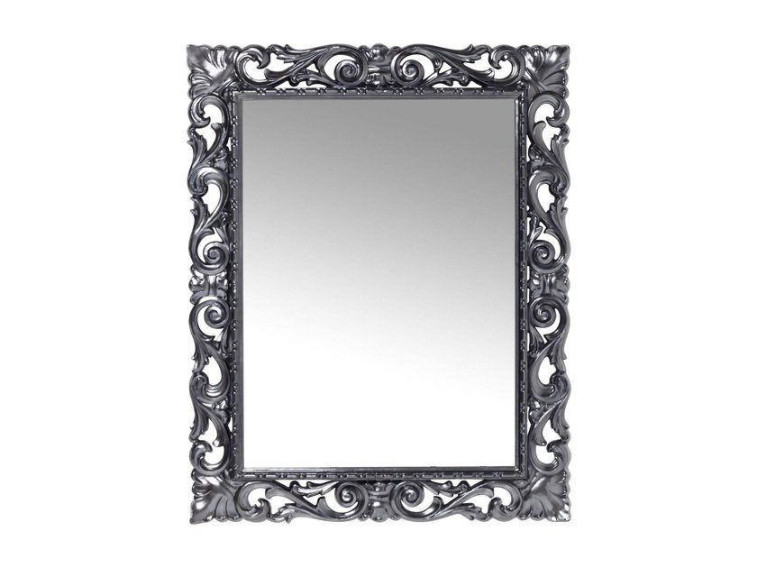 Rectangular wall-mounted framed mirror SECOLO CHROME by KARE-DESIGN