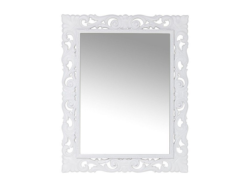 Rectangular wall-mounted framed mirror SECOLO WHITE by KARE-DESIGN