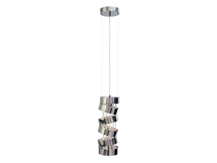 Metal pendant lamp with Swarovski® Crystals SECRET CLUB H1 by ILFARI