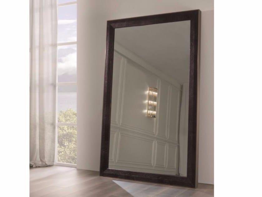 Freestanding rectangular framed mirror SECRET by Longhi