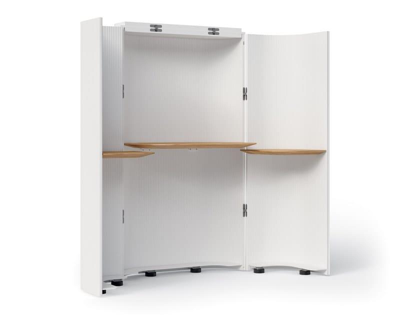 Extruded aluminium secretary desk SECRETAIRE by Alias