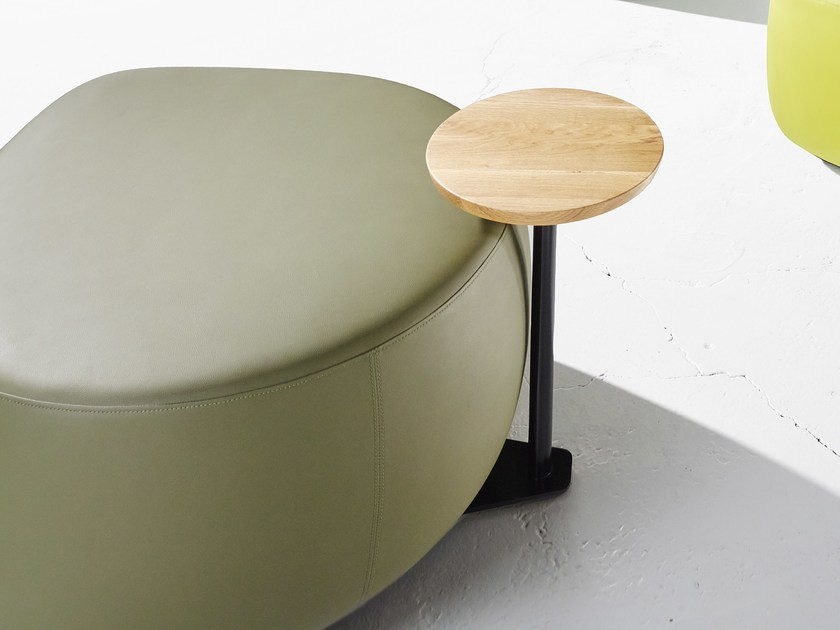 Round wooden side table SEED | Side table by Derlot Editions