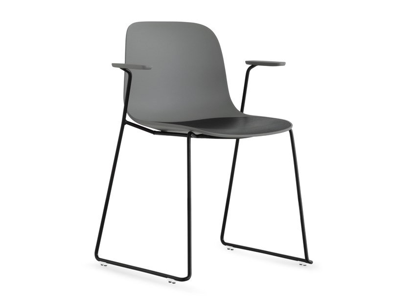 Stackable polypropylene chair with armrests SEELA | Chair with armrests by Lapalma