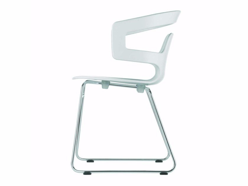 Sled base stackable chair SEGESTA CHAIR - 501_O by Alias