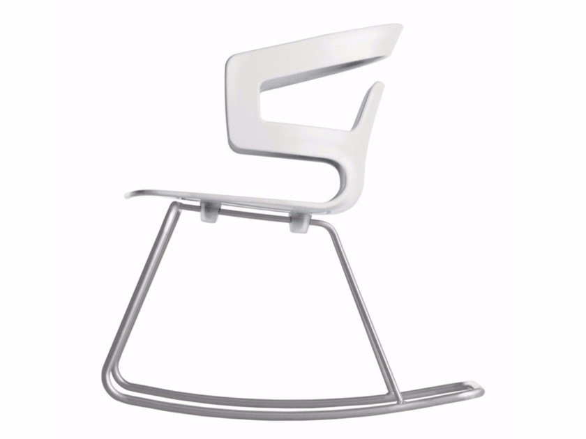 Rocking chair with armrests SEGESTA ROCKING - 509 by Alias