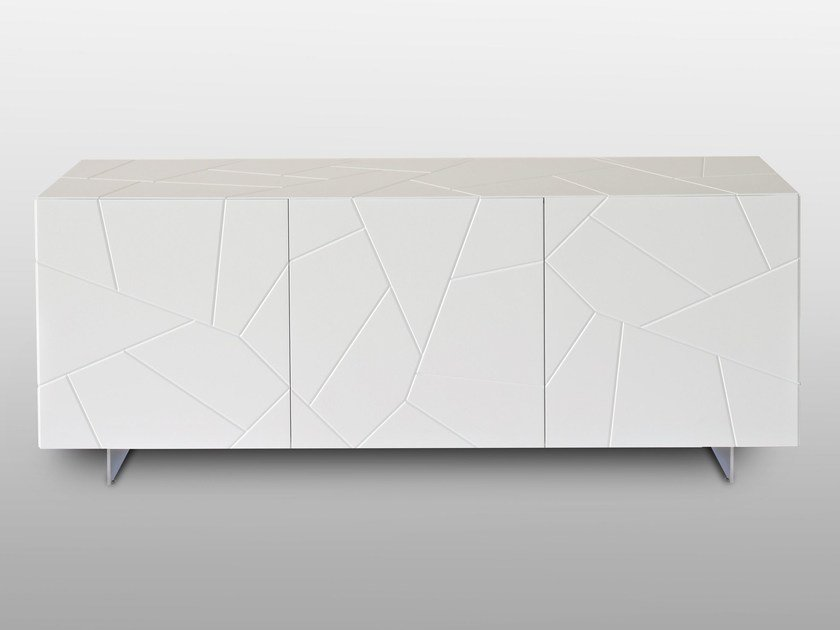 Lacquered wooden sideboard with doors SEGNO S3   Sideboard by RIFLESSI