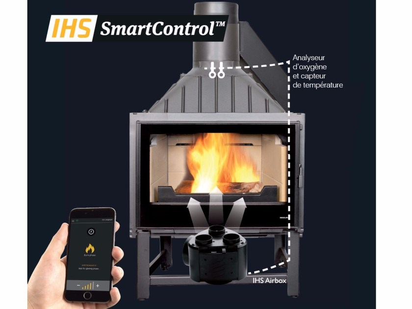 Electronic air regulation SEGUIN IHS SMARTCONTROL™ by CHEMINEES SEGUIN