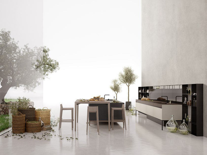 Marble kitchen with island SEI by Euromobil