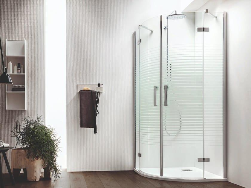 Semicircular shower cabin with hinged door SEI   Semicircular shower cabin by ARBLU