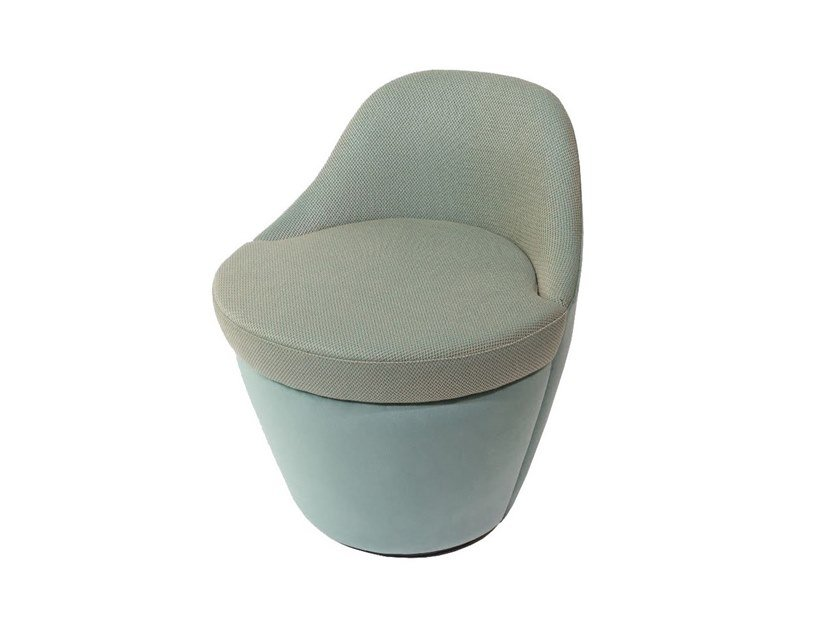 Swivel fabric easy chair SEINE by HUGUES CHEVALIER