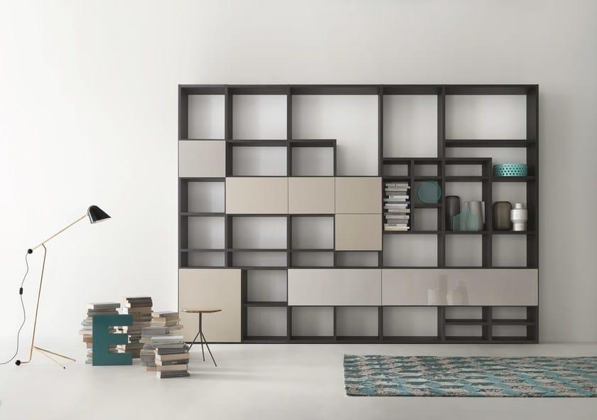 Libreria componibile modulare su misura selecta by lema - Lema mobili listino prezzi ...