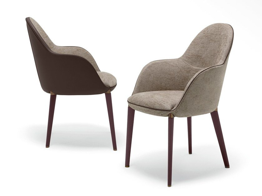 Chair with armrests SELENE by GIORGETTI