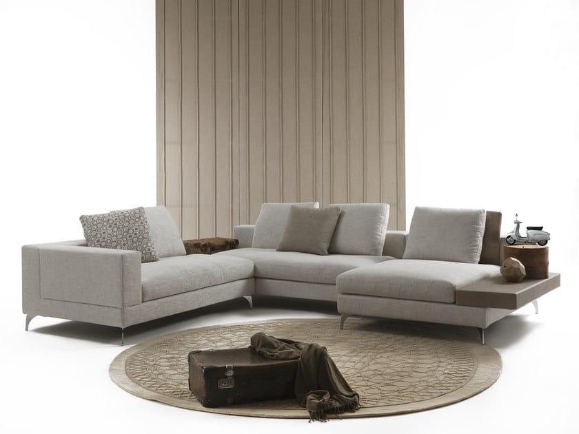 Corner sectional fabric sofa SELFIE | Corner sofa by Flexstyle