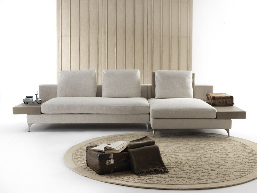 Fabric sofa with chaise longue SELFIE | Sofa with chaise longue by Flexstyle