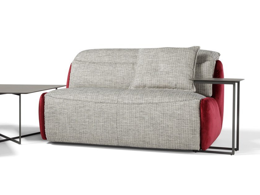Recliner 2 seater fabric sofa with electric motion SELFY   2 seater sofa by Egoitaliano