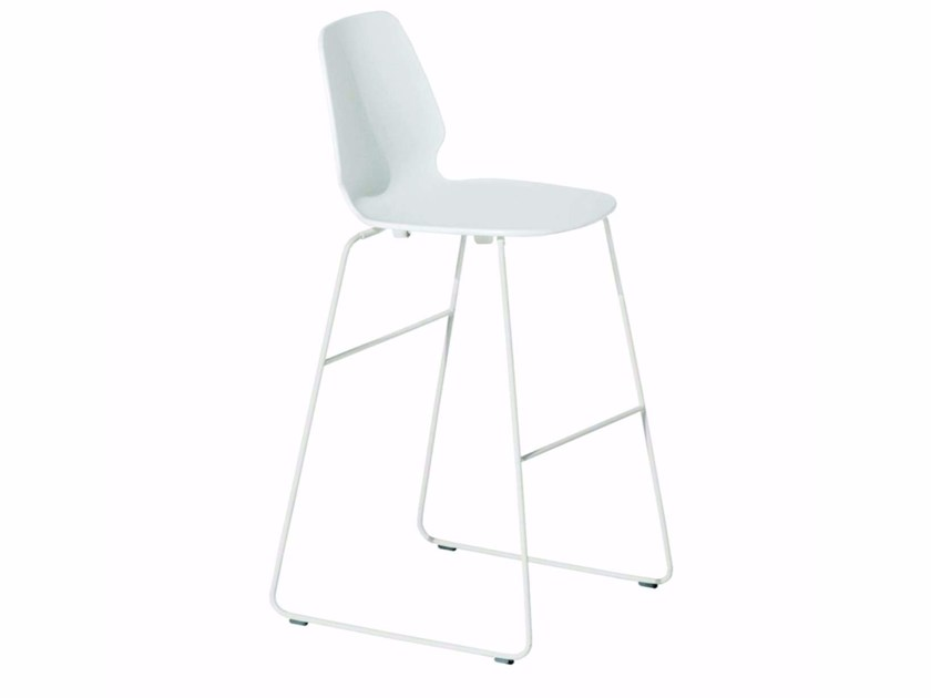 Sled base chair SELINUNTE HIGH STOOL - 548 by Alias