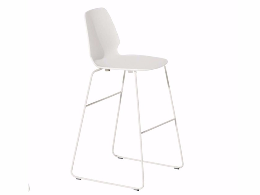 Sled base chair SELINUNTE HIGH STOOL - 548_O by Alias