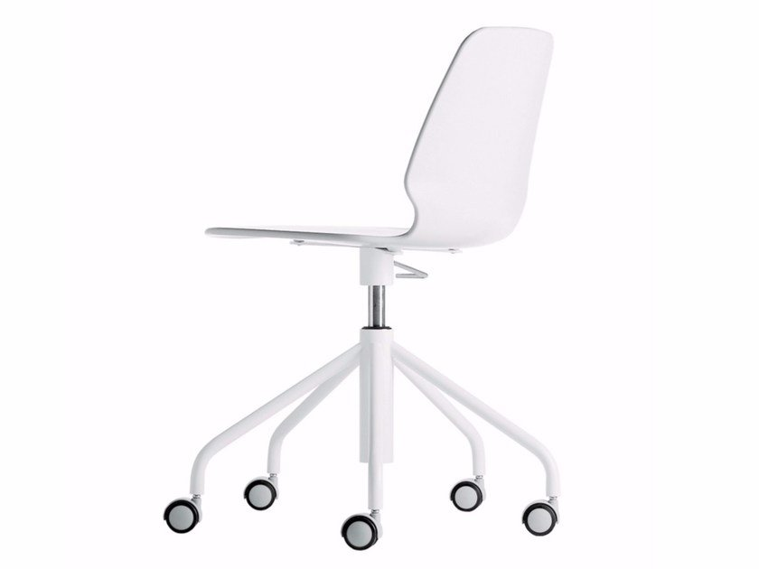Swivel height-adjustable chair with casters SELINUNTE STUDIO - 538 by Alias