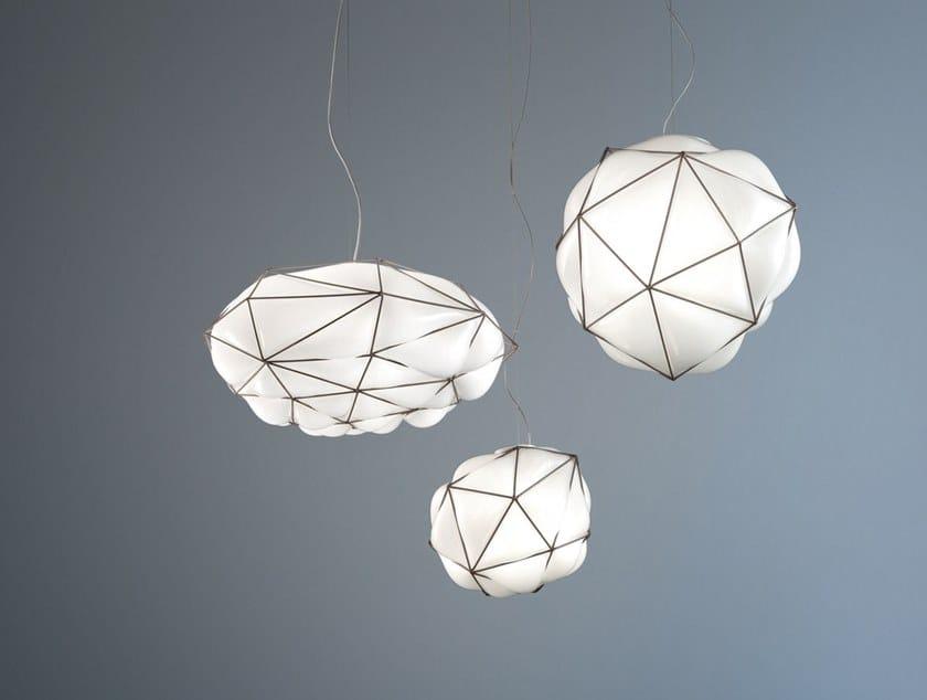 Lámpara colgante de vidrio soplado con luz directa SEMAI SP by Vetreria Vistosi