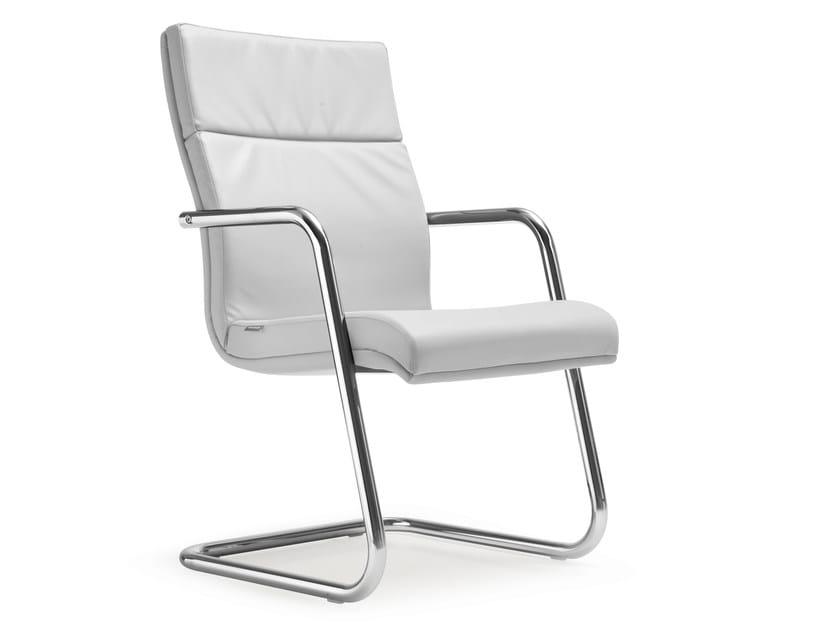 Cantilever leather reception chair SENATOR   Reception chair by Quinti Sedute