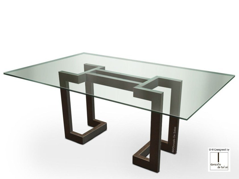 Rectangular glass dining table SENDAI   Rectangular table by Gonzalo De Salas