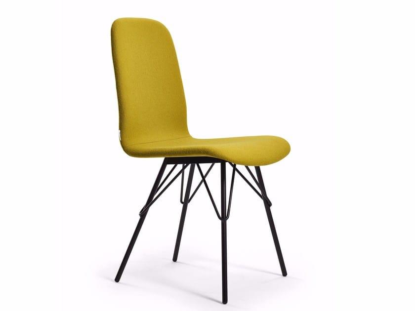 Upholstered fabric chair SENIA | Chair by Varaschin