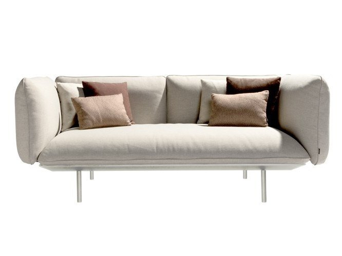 2 seater fabric garden sofa SENJA | Garden sofa by TRIBÙ