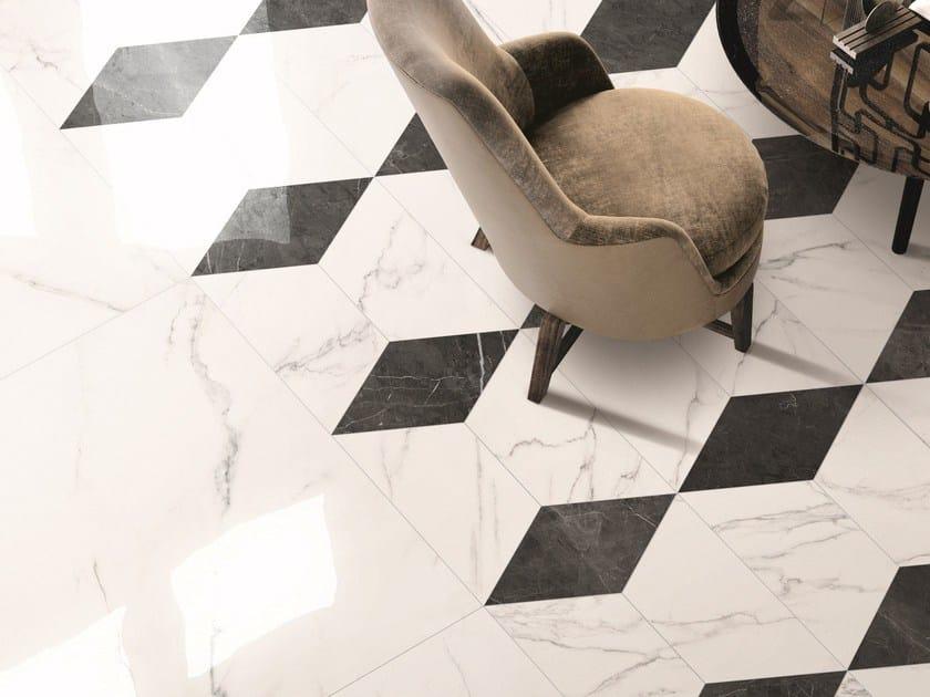 SENSI WIDE ABK SENSI WIDE 16 Statuario Ultra Lux Trapezio Statuario Ultra Lux Rombo Pietra Grey Lux