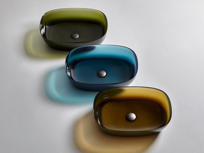 Countertop oval Cristalmood® washbasin SENSO | Cristalmood® washbasin by Antonio Lupi Design