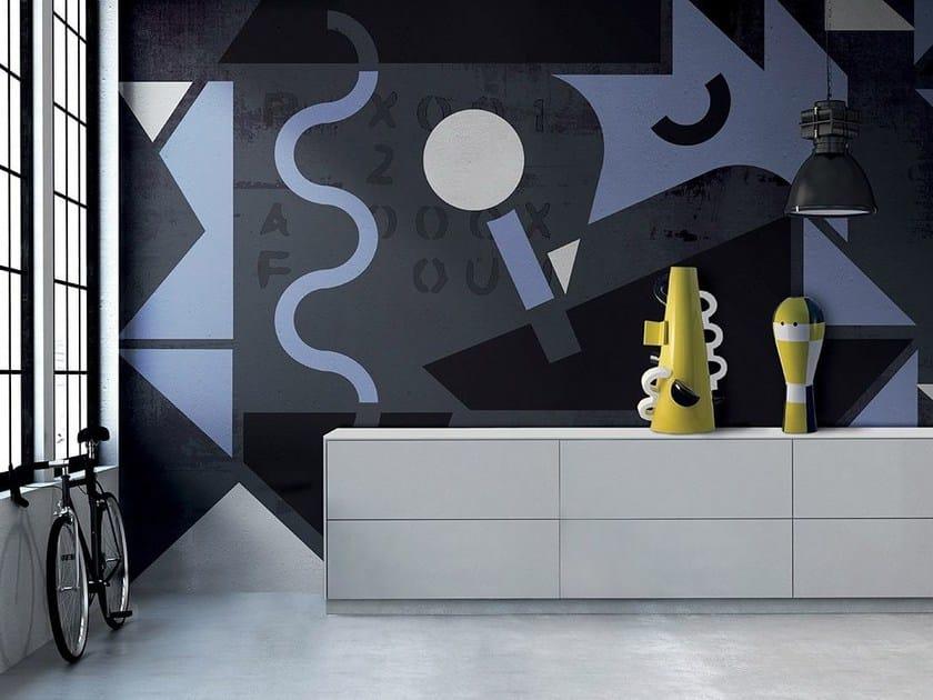 Carta da parati lavabile pop art SENSO UNICO by N.O.W.  Edizioni