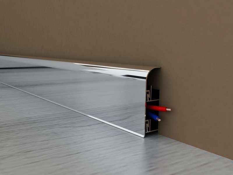 Aluminium Skirting board SENTIO by Mox Profile Systems