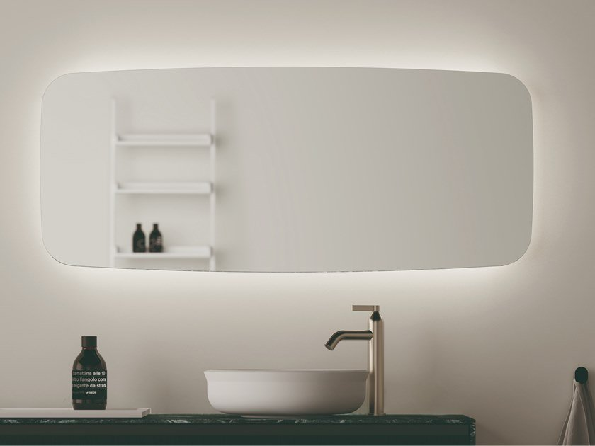 Specchio rettangolare da parete per bagno SEPPIA by Agape