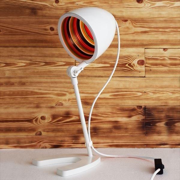 LED height-adjustable handmade brass table lamp SERGEANT PEPPER TABLE LAMP by Mullan Lighting