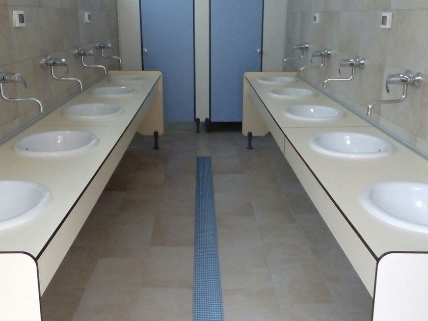 HPL washbasin top SERIE PLTOP A by GES Group