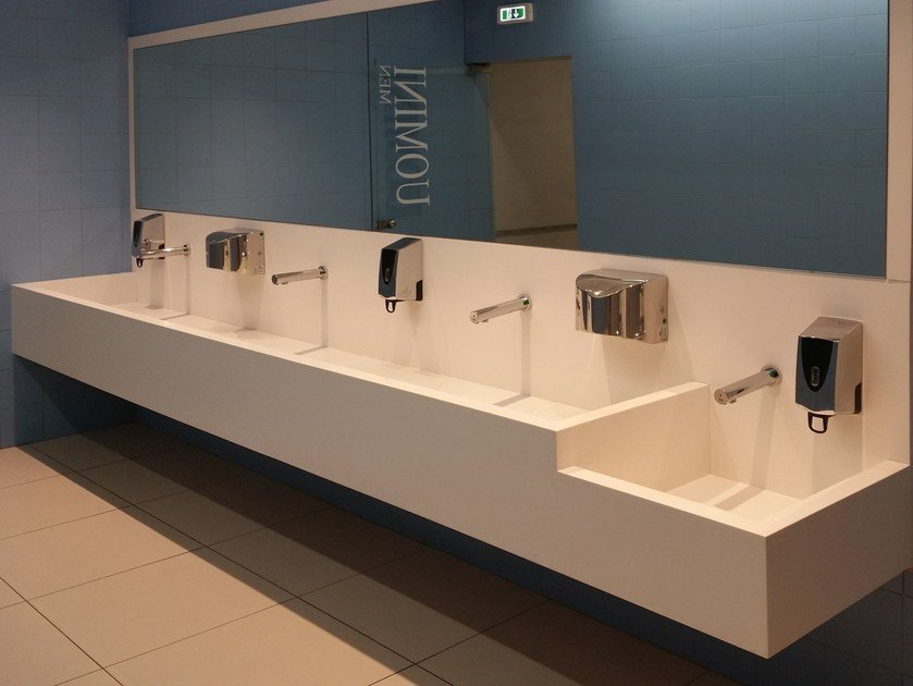 Corian® washbasin top SERIE TOP CO by GES Group