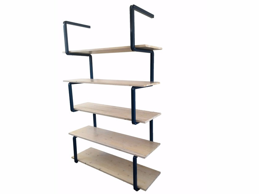 Open steel and wood shelving unit SERIES by Castellani.it