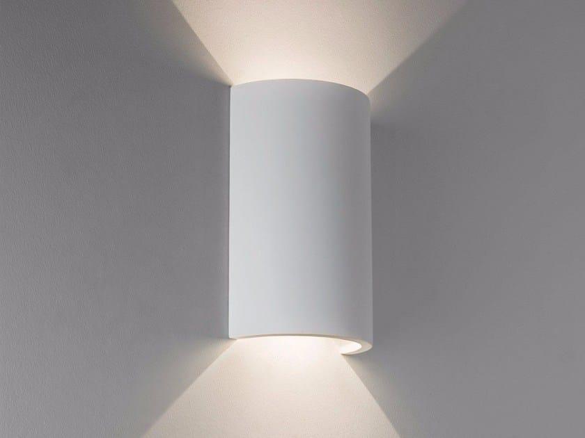 Applique a led a luce diretta e indiretta in gesso serifos by