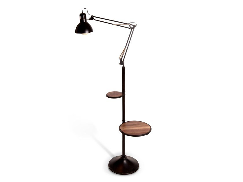 Adjustable metal floor lamp SERVANT by KONTRA
