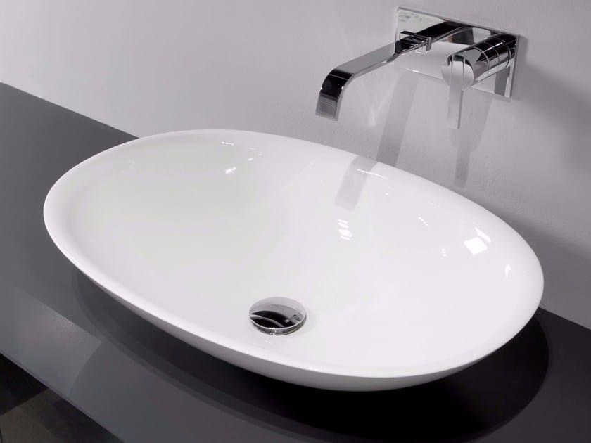 Countertop Ceramilux® washbasin SERVO by Antonio Lupi Design