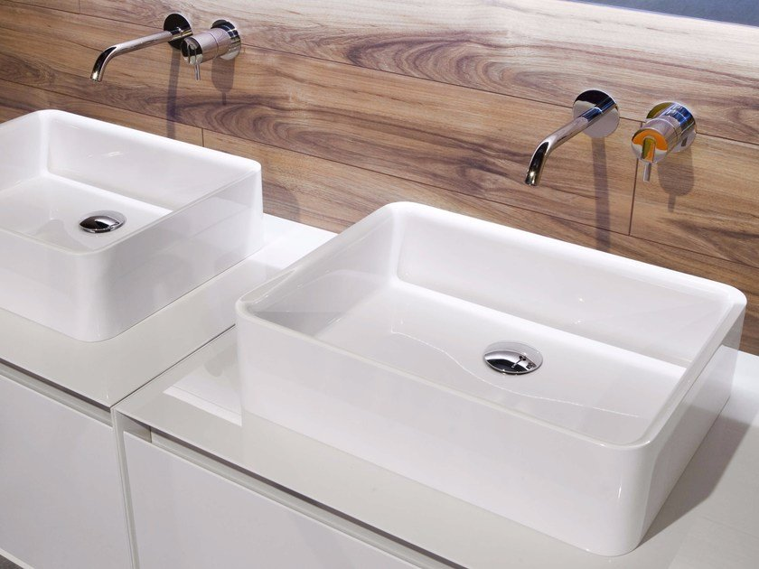 Countertop Ceramilux® washbasin SERVORETTO by Antonio Lupi Design