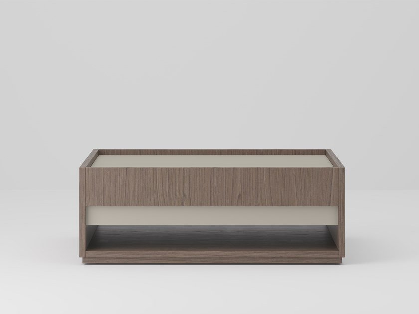 Low square wooden coffee table SESSANTA | Low coffee table by PROF