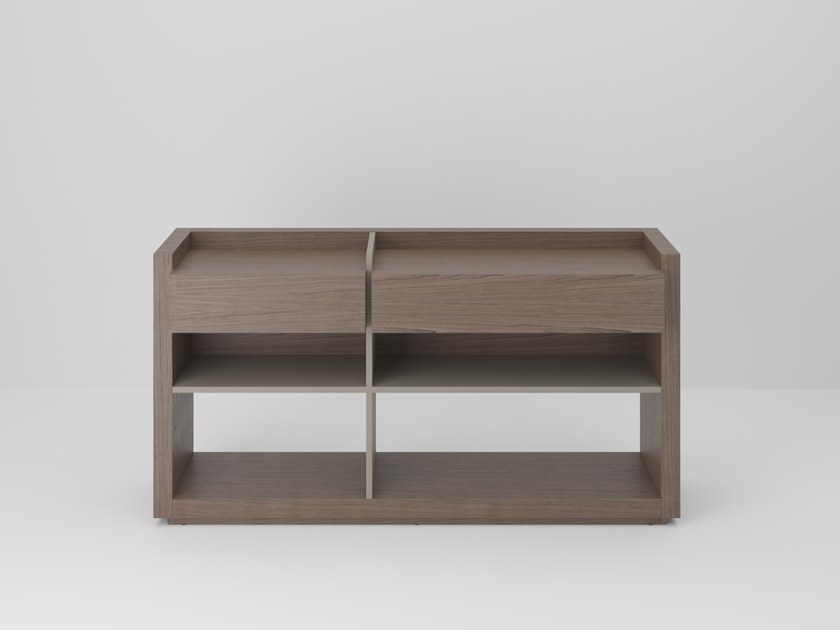 Rectangular wooden console table with drawers SESSANTA | Wooden console table by PROF