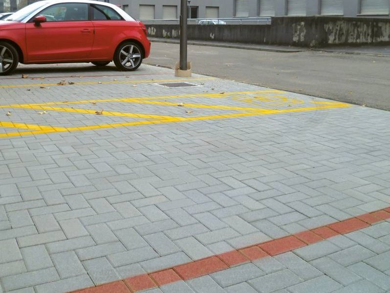 Concrete paving block SESTINO - DRENOPAV by RECORD - BAGATTINI