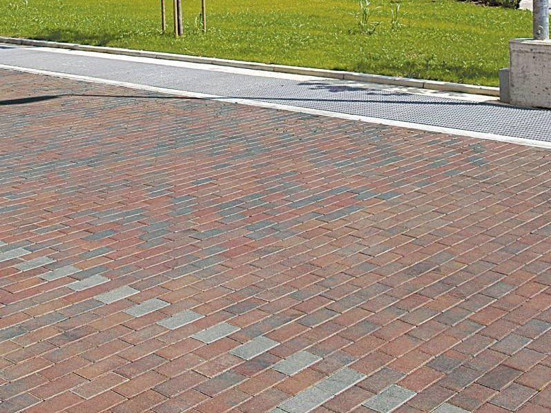 Concrete paving block SESTINO - QUARZO by RECORD - BAGATTINI