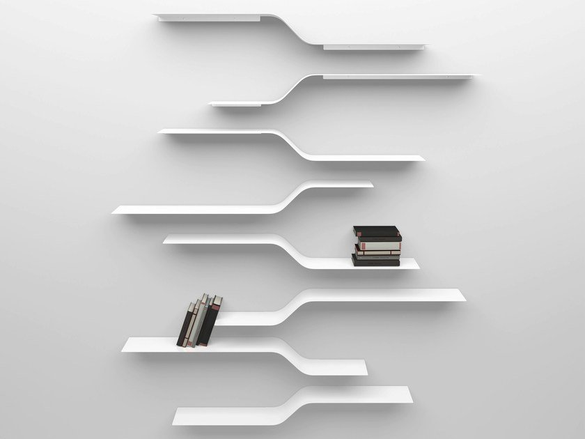 Powder coated aluminium wall shelf SET 10 by VIDAME CREATION
